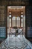 Palácio de Manial do príncipe Mohammed Ali Entrada de uma sala pequena no salão da recepção Imagens de Stock Royalty Free