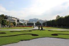 Palácio de Mirabell em Salzburg Imagens de Stock