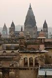 Palácio de Orcha, India. imagens de stock