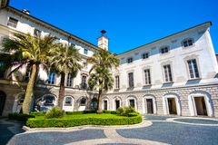 Palácio de Palazzo Borromeo Borromean em Isola Bella Bella Island Fotografia de Stock Royalty Free