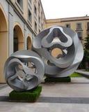 Palácio de pedra de Cidade do México do projeto da arte moderna do sclupture Foto de Stock