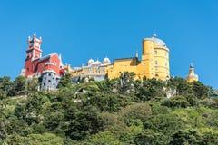 Palácio de Pena nos subúrbios de Sintra em Portugal Imagens de Stock