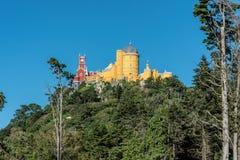 Palácio de Pena nos subúrbios de Sintra em Portugal Fotos de Stock Royalty Free