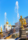 Palácio de Peterhof (Petrodvorets) em St Petersburg, Rússia Imagens de Stock