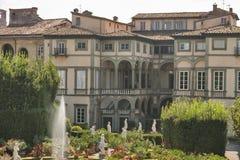 Palácio de Pfanner, opinião do jardim, Lucca, Itália Fotos de Stock Royalty Free