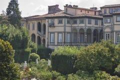 Palácio de Pfanner, opinião do jardim, Lucca, Itália Foto de Stock Royalty Free