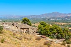 Palácio de Phaistos Crete, Greece Foto de Stock Royalty Free