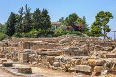 Palácio de Phaistos na Creta, Grécia Fotografia de Stock Royalty Free