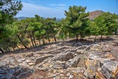 Palácio de Phaistos na Creta, Grécia Imagens de Stock