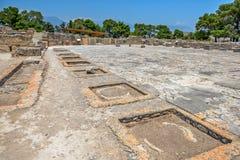 Palácio de Phaistos na Creta, Grécia Foto de Stock