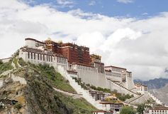 Palácio de Potala (em Lhasa, em Tibet) Imagem de Stock