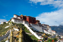 Palácio de Potala em Lhasa, Tibet Imagem de Stock