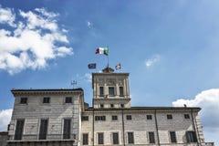 Palácio de Roma, Itália Quirinal fotos de stock