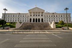 The Palácio de São Bento. LISBON, PORTUGAL - FEBRUARY 01, 2016: The Palácio de São Bento is the home of the Assembly of the Republic, the Portuguese stock photo