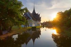 Palácio de Sanphet Prasat, Tailândia imagens de stock