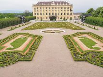 Palácio de Schoenbrunn em Viena, Áustria Em maio de 2016 imagens de stock royalty free