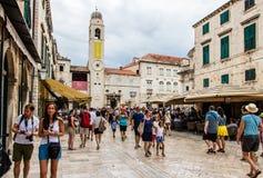 Palácio de Sponza na cidade velha do ` s de Dubrovnik, Croácia fotografia de stock royalty free