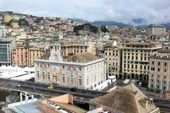 Palácio de St. George na cidade portuária Genoa, Italy fotos de stock