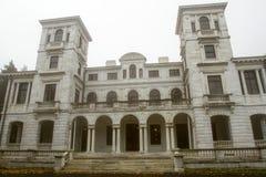 Palácio de Swannanoa na névoa Fotos de Stock Royalty Free