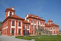 Palácio de Troja em Praga, República Checa Fotos de Stock Royalty Free