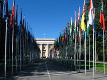 Palácio de United Nations, Genebra, Switzerland Imagem de Stock
