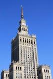Palácio de Varsóvia da cultura e da ciência imagens de stock royalty free