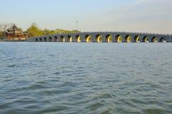 Palácio de verão da ponte, Pequim, China fotos de stock royalty free