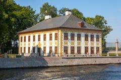 Palácio de verão de Peter o grande no jardim do verão, St Petersburg, Rússia imagem de stock royalty free