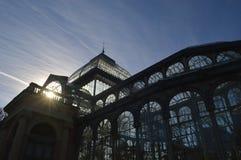 Palácio de vidro no Madri Foto de Stock