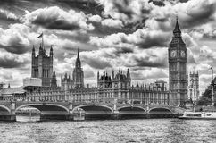 Palácio de Westminster, casas do parlamento, Londres Imagens de Stock Royalty Free