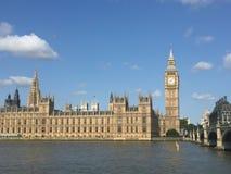 Palácio de Westminster de Southbank Foto de Stock Royalty Free
