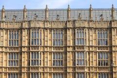 Palácio de Westminster, o parlamento, fachada, Londres, Reino Unido imagem de stock