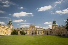 Palácio de Wilanow em Varsóvia Foto de Stock