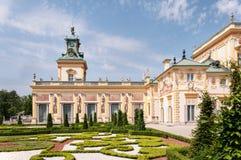 Palácio de Wilanow em Varsóvia, Poland Foto de Stock