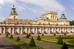 Palácio de Wilanow em Varsóvia, Poland fotografia de stock