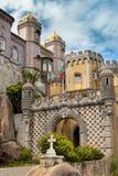Palácio a Dinamarca Pena/Sintra, Lisboa/Portugal/architec europeu Fotos de Stock Royalty Free