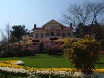 Palácio do amarelo do parque de Emirgan Fotos de Stock