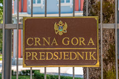 Palácio do azul de Cetinje fotos de stock