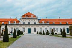 Palácio do Belvedere em Viena, Áustria imagem de stock