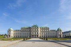 Palácio do Belvedere em Viena, Áustria fotografia de stock