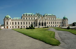 Palácio do Belvedere em Viena imagens de stock