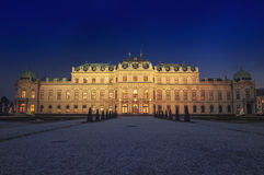 Palácio do Belvedere em Viena Fotos de Stock Royalty Free