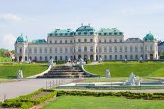 Palácio do Belvedere - a residência do príncipe do couve-de-milão Viena, Áustria foto de stock royalty free