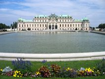 Palácio do Belvedere - Viena, Áustria fotografia de stock royalty free