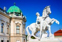 Palácio do Belvedere, Viena, Áustria foto de stock