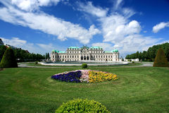 Palácio do Belvedere, Viena foto de stock