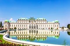 Palácio do Belvedere, vista bonita, Áustria nenhuns povos fotografia de stock royalty free