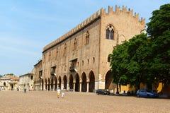 Palácio do capitão, Palazzo Ducale em Mantua, Itália Fotos de Stock
