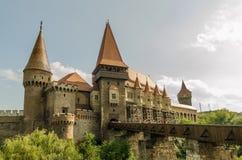 Palácio do castelo de Corvin Fotografia de Stock Royalty Free