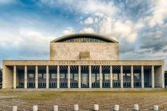 Palácio do congresso, distrito de EUR, Roma, Itália Fotografia de Stock Royalty Free